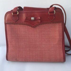Brighton red purse cloth & leather